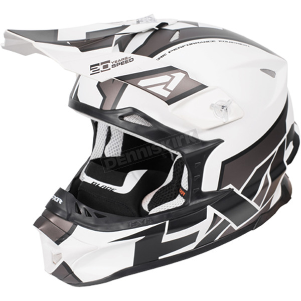 FXR Racing White/Charcoal/Black Blade Clutch Helmet - 170601-0108-19