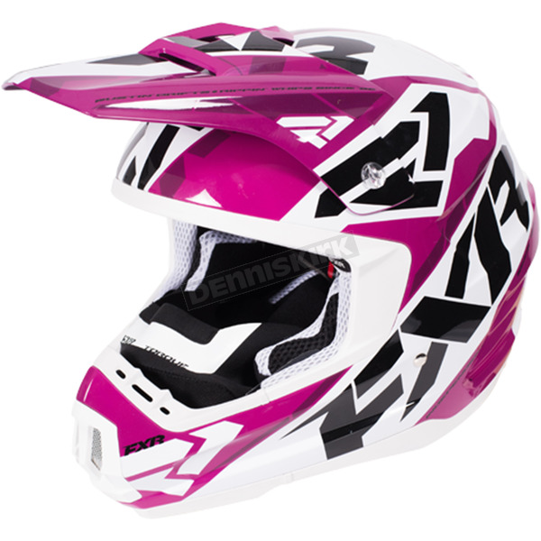 FXR Racing Wineberry/White Torque Core Helmet - 170621-8501-04