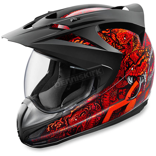 Icon Red Variant Cottonmouth Helmet - 0101-9178