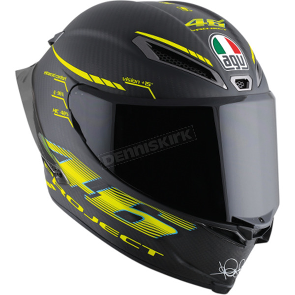 AGV Black/Yellow Pista GP R GP-46 2.0 Helmet - 6021O0HY00105