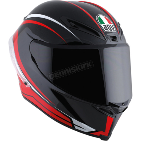 AGV Black/Red Corsa-7 R Helmet - 6121O2HY00108
