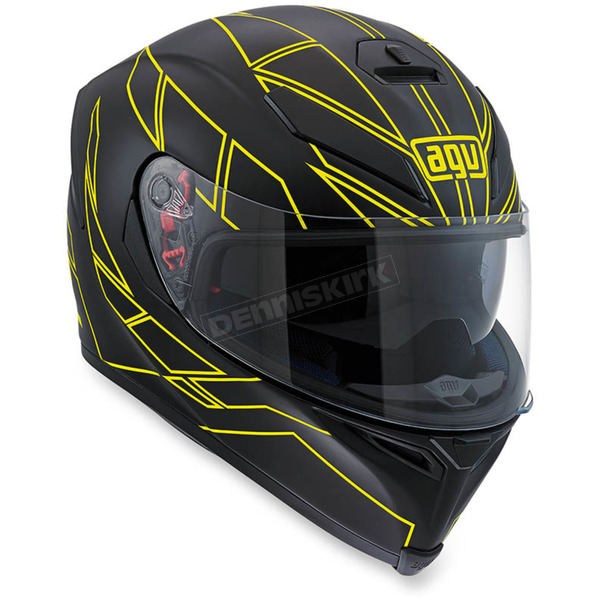 AGV Flo Yellow K-5 S Hero Helmet - 0041O2HY00406