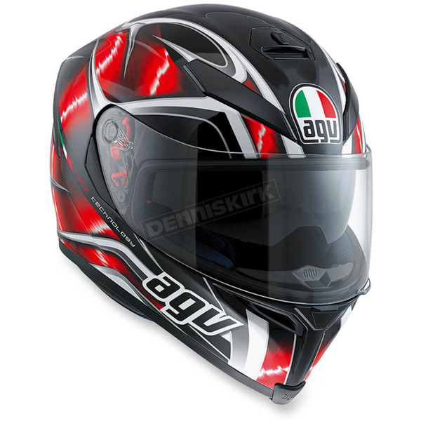 AGV Black/Red K-5 S Hurricane Helmet - 0041O2HY00709
