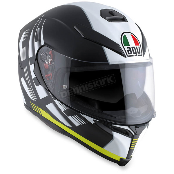 AGV Black/Yellow K-5 S Darkstorm Helmet - 0041O2HY01211