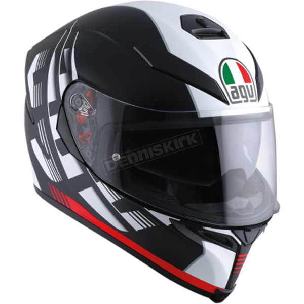 AGV Black/Red K-5 S Darkstorm Helmet - 0041O2HY01305