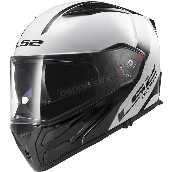 LS2 White/Gray/Black Metro Rapid Modular Helmet - 324-1204