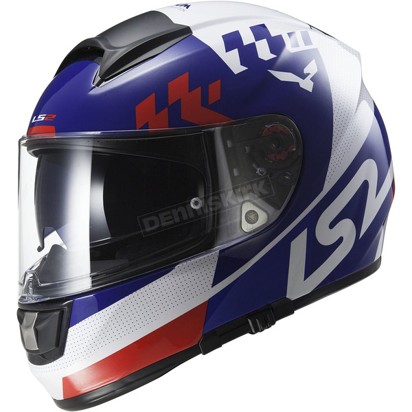 LS2 White/Blue/Red Citation Podium Helmet - 397-6101