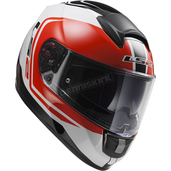 LS2 White/Black/Red Citation Wake  Helmet - 397-6207