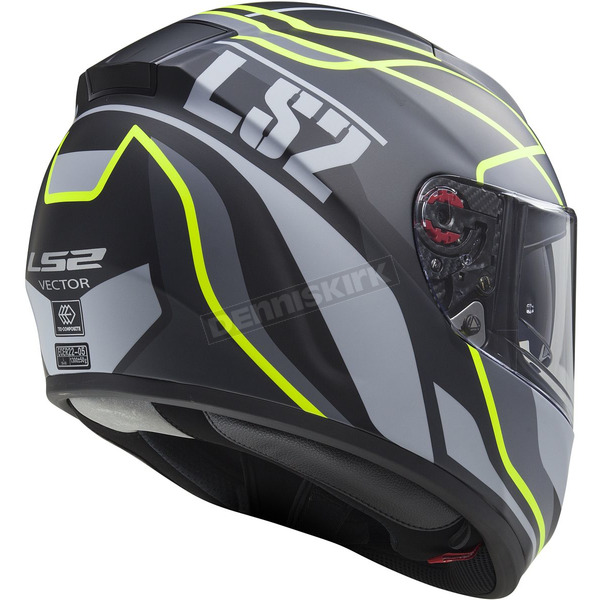 LS2 Matte Black/Gray/Yellow Citation Vantage Helmet - 397-6311