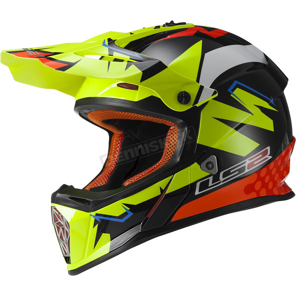 LS2 Black/Yellow/Orange Fast Explosive Helmet - 437-1006