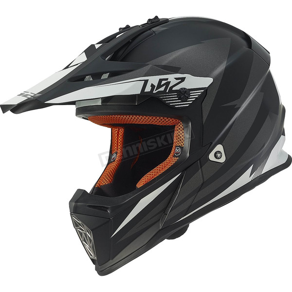 LS2 Gray/Black Fast Race Helmet - 437-1224