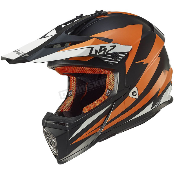 LS2 Orange/Black Fast Race Helmet - 437-1246