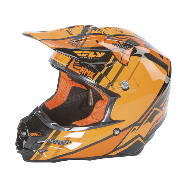 Fly Racing Black/Orange HMK F2 Carbon Cross Helmet - 73-4926L