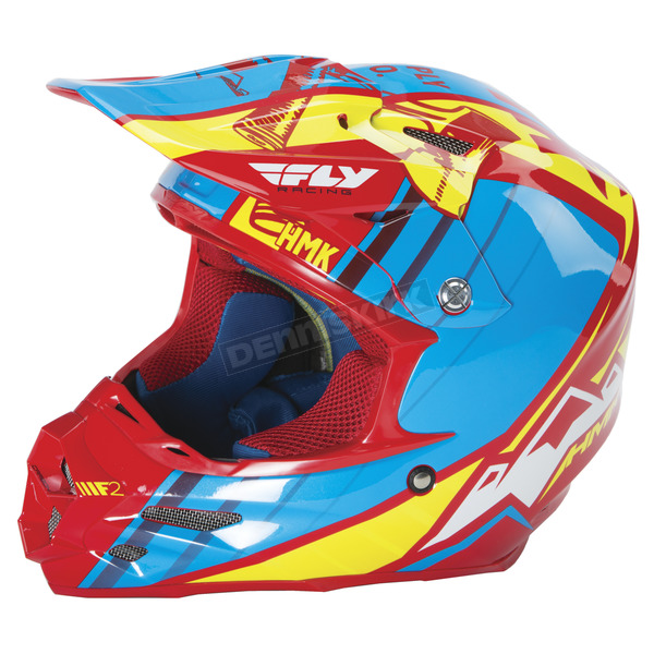 Fly Racing Red/Blue HMK F2 Carbon Cross Helmet - 73-4927XS
