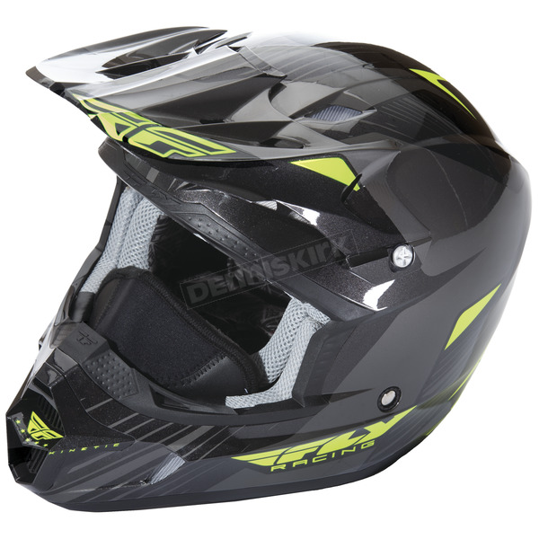 Fly Racing Hi-Vis/Black Kinetic Pro Cold Weather Helmet - 73-4937S