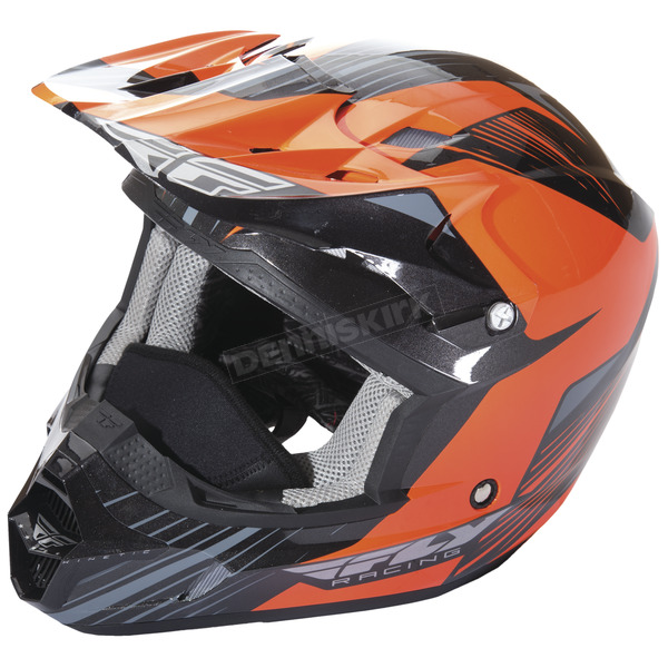 Fly Racing Orange/Black Kinetic Pro Cold Weather Helmet - 73-49382X