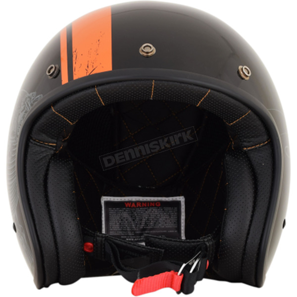 AFX Gloss Black/Orange FX-76 Raceway Helmet - 0104-2070