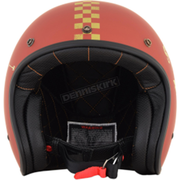 AFX Flat Rust/Gold FX-76 Speed Racer Helmet - 0104-2074