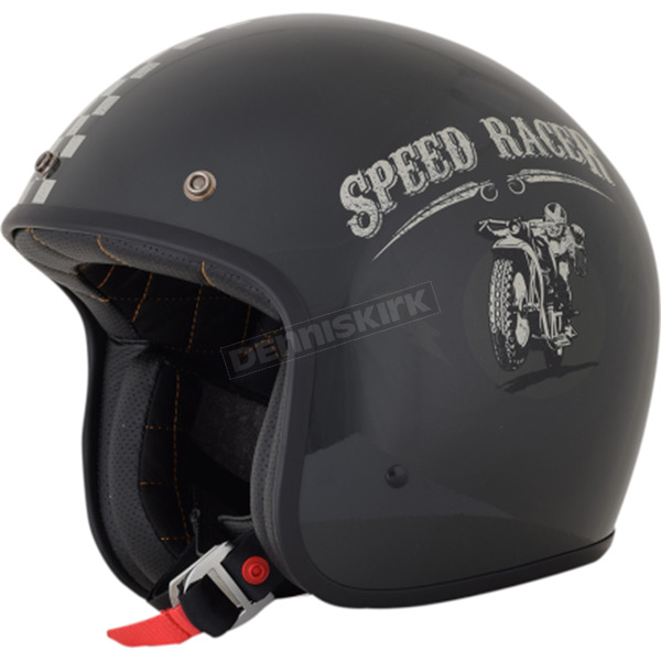 AFX Gloss Magnetic/Silver FX-76 Speed Racer Helmet - 0104-2079