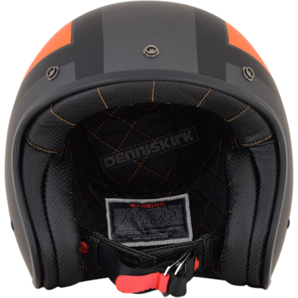 AFX Frost Gray/Orange/Black FX-76 Tricolor Helmet  - 0104-2086