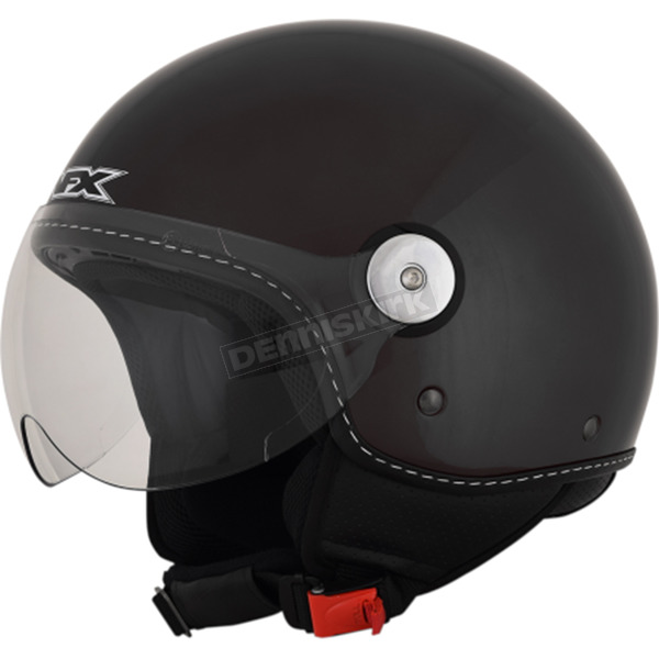 AFX Gloss Black FX-33 Scooter Helmet - 0106-0662