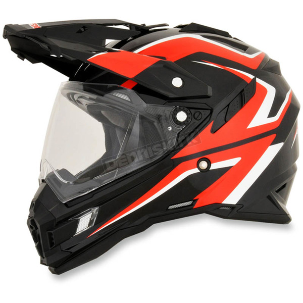 AFX Black/Red/White FX-41DS Dual Sport AT Helmet - 0110-4974