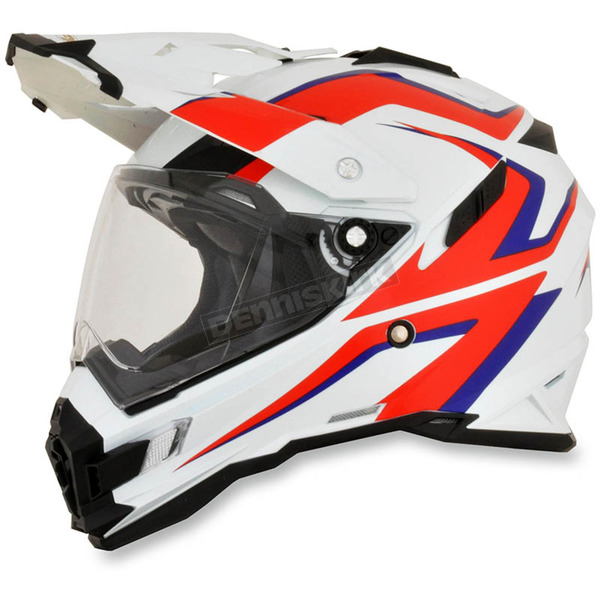 AFX White/Red/Blue FX-41DS Dual Sport AT Helmet - 0110-4986