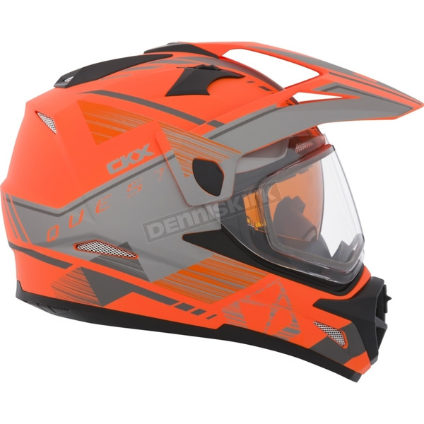 CKX Matte Orange/Gray Quest RSV Ridge Adventure Helmet - 506526