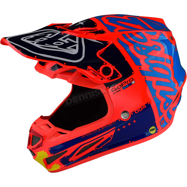 Troy Lee Designs Orange Factory Composite SE4 Helmet - 101008704