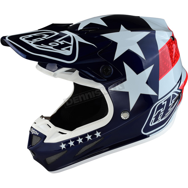 Troy Lee Designs Blue Freedom Composite SE4 Helmet - 101142305
