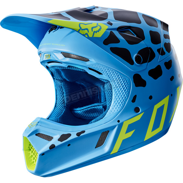 Fox Blue V3 Grav Helmet - 17383-002-L