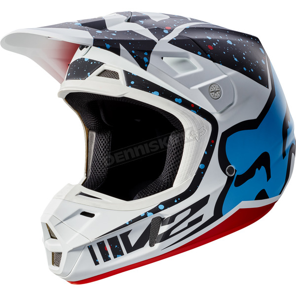 Fox Red/White V2 Nirv Helmet - 17371-054-XS