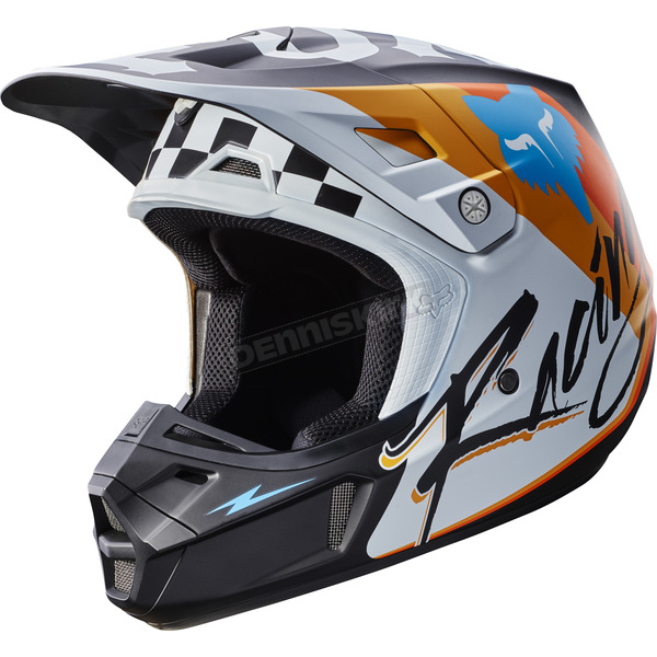 Fox White V2 Rohr Helmet - 17374-008-XL