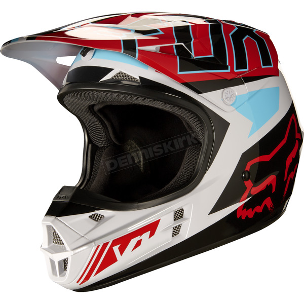 Fox Gray/Red V1 Falcon Helmet - 17351-037-2X