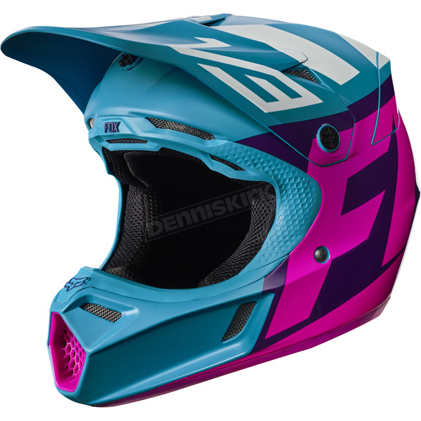 Fox Youth Teal V3 Creo Helmet - 17405-176-S