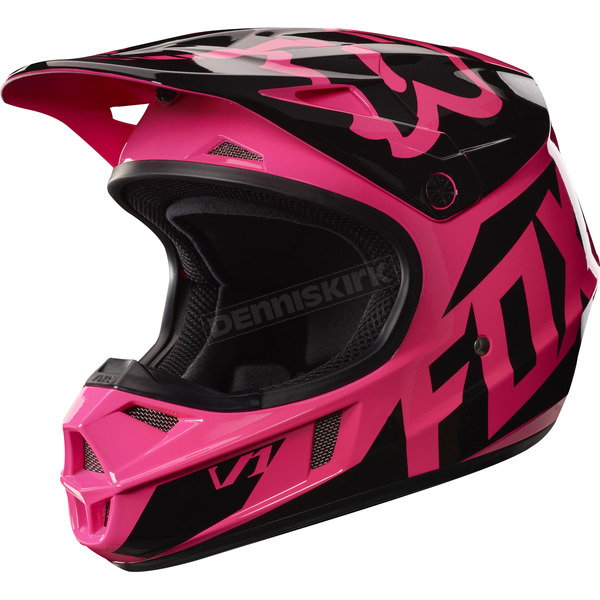 Fox Youth Pink V1 Race Helmet - 17396-170-S