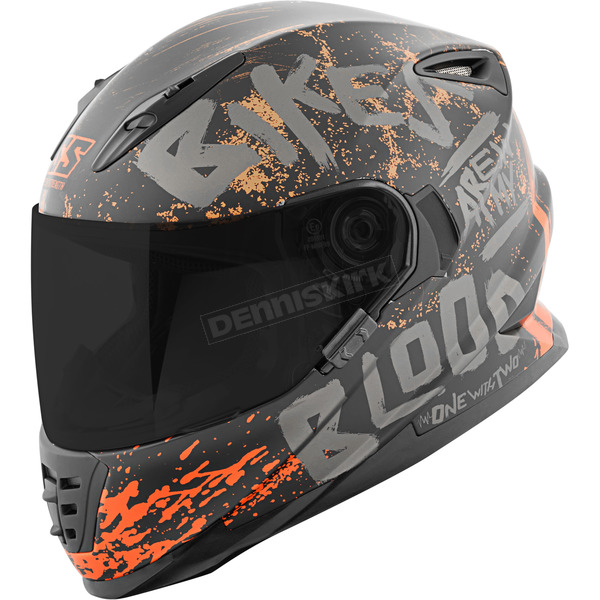 Speed and Strength Matte Black/Gray/Rust SS1310 Bikes Are In My Blood Helmet - 884380