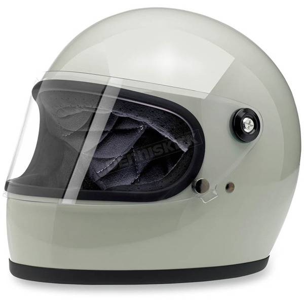 Biltwell Gloss Polar Green Gringo S Helmet - GSPOLGLGRNMED