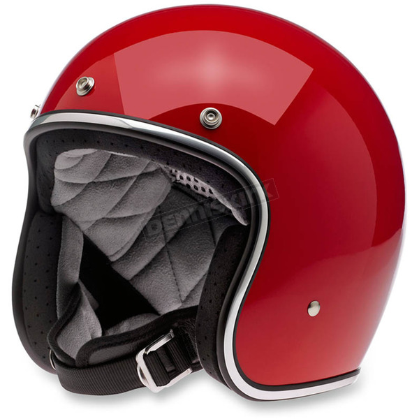 Biltwell Gloss Blood Red Bonanza Helmet - BHBLDGLREDSML