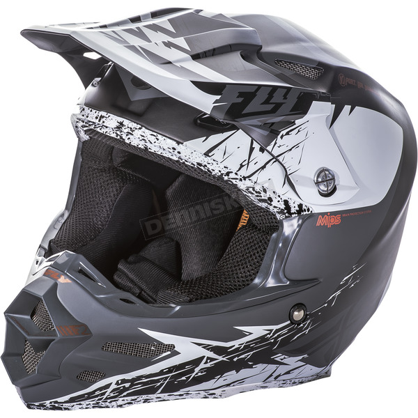 Fly Racing Matte White/Black F2 Carbon MIPS Retrospec Helmet - 73-4221X