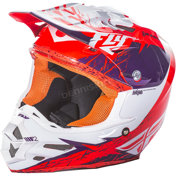 Fly Racing Purple/Orange F2 Carbon MIPS Retrospec Helmet - 73-4226M