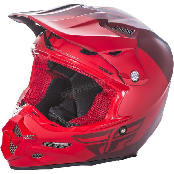 Fly Racing Matte Red/Black F2 Carbon Pure Helmet - 73-4132XS