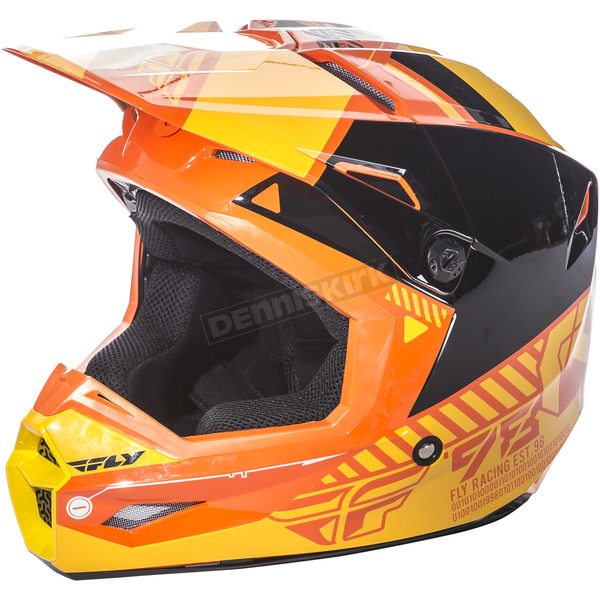 Fly Racing Orange/Yellow Kinetic Elite Onset Helmet - 73-8506XS