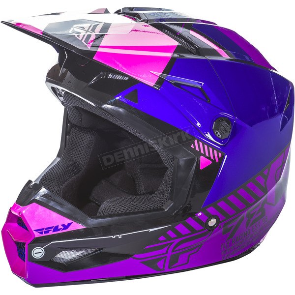 Fly Racing Youth Pink/Purple/Black Kinetic Elite Onset Helmet - 73-8509YM
