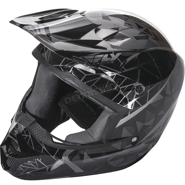 Fly Racing Black Kinetic Crux Helmet - 73-33812X