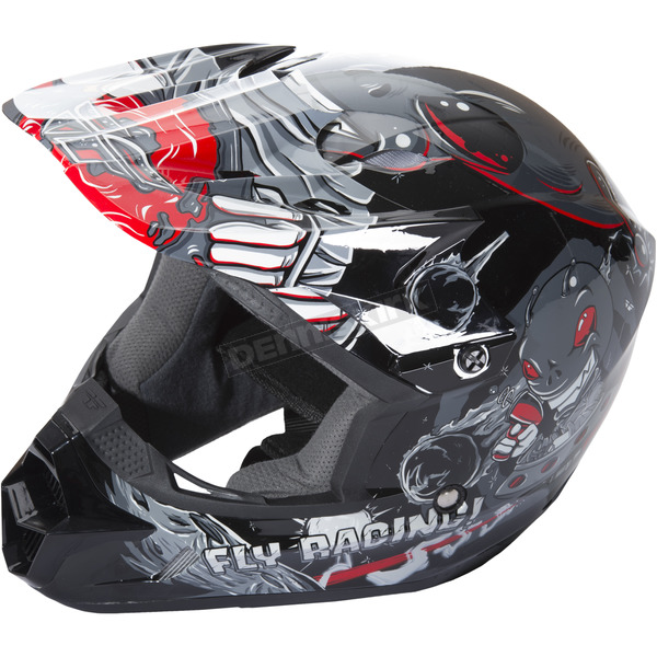 Fly Racing Youth Gray Kinetic Invasion Helmet - 73-3451YS
