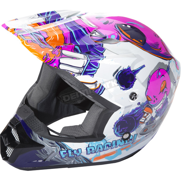 Fly Racing Youth Pink Kinetic Invasion Helmet - 73-3452YL