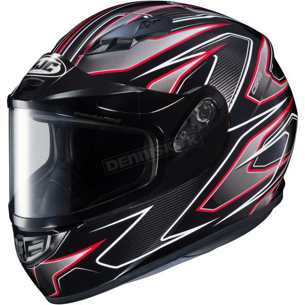 HJC Black/Gray/Red CS-R3 Spike MC-1 Snow Helmet w/Framed Dual Lens Shield - 133-915