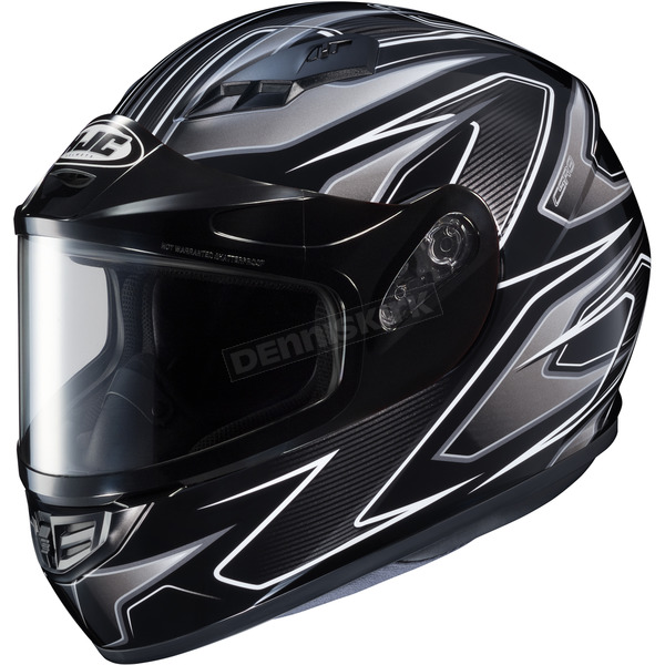 HJC Flat Black/Gray/Silver CS-R3 Spike MC-5 Snow Helmet w/Framed Dual Lens Shield - 133-951