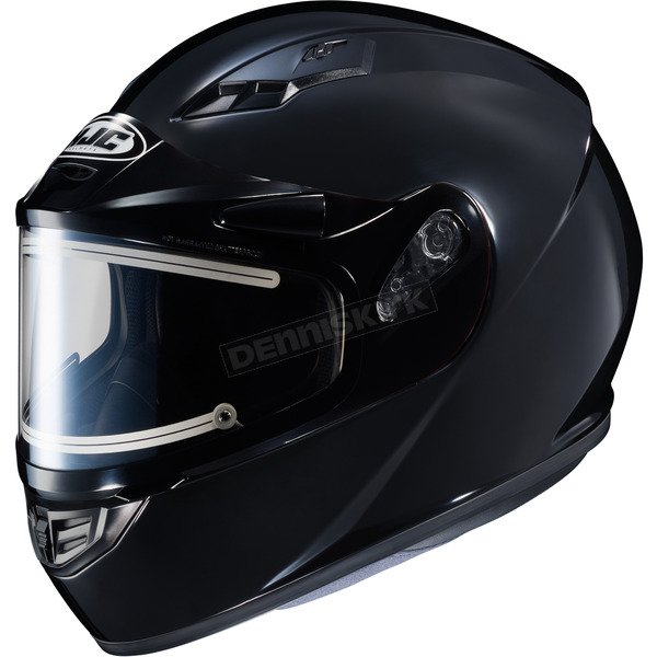 HJC Black CS-R3 Snow Helmet w/Framed Electric Shield - 031-604